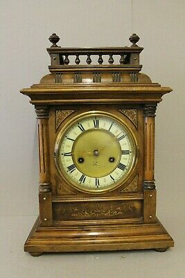 Antique German 14 Day Bracket Clock