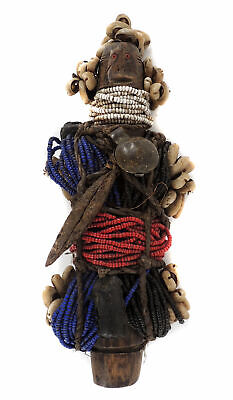 Fali Beaded Fertility Doll Cameroon African Art