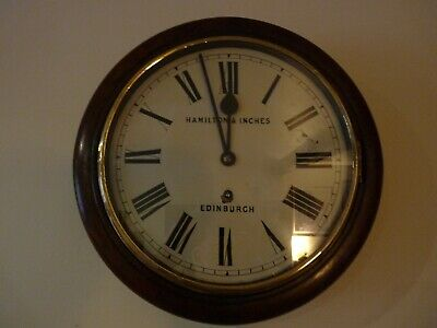 "Super rare Winterhalder & Hofmeier 12"" Dial wall clock with platform escapement"