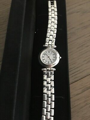 """ECCLISSI Sterling Silver Watch 54.5 Grams .925 Case/ Band 7.5"""" Long Model 3240"""