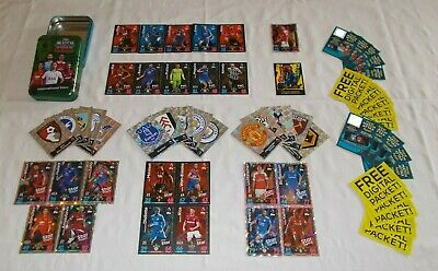 Match Attax 18 - 19 = Bundle of 60 Cards + OPEN Mega Tin (B7)