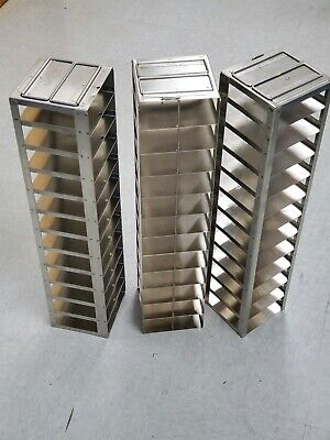 "Stainless Steel 8 Box Chest Freezer Vertical Rack for 3"" Boxes, Two (2) racks"
