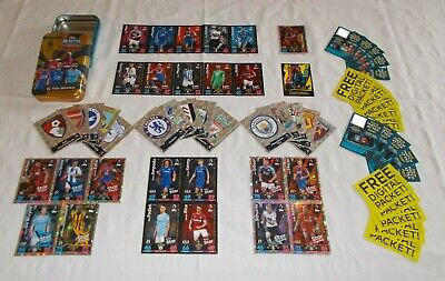 Match Attax 18 - 19 = Bundle of 60 Cards + OPEN Mega Tin (B9)