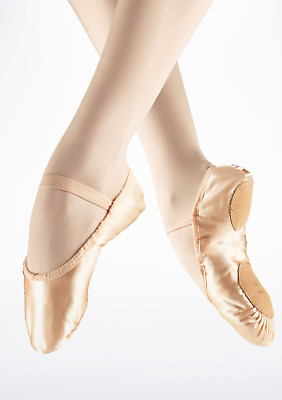 Pink satin Bloch split sole ballet shoes - all sizes