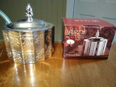 Vintage Godinger Museum Re-creations of antiques silver plate jewelry box w/ lid