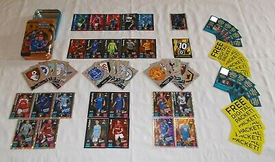 Match Attax 18 - 19 = Bundle of 60 Cards + OPEN Mega Tin (B13)