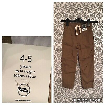 Boys 4-5 Years New Tagged Brown Chino Bottoms Trousers