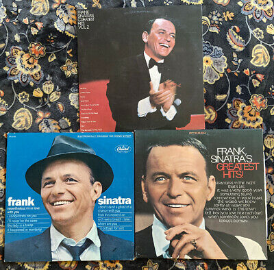 Lot Of 3 Vinyl LP Records Frank Sinatra Greatest Hits  Nevertheless I'm In Love