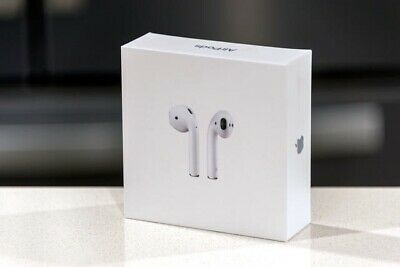NEW Apple AirPods & Wireless Charging Case 2nd Gen 2019 White MRXJ2AM/A OEM
