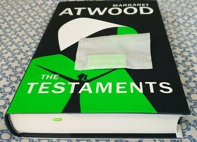MARGARET ATWOOD: THE TESTAMENTS 1st IMPRESSION & RARE DOWN WITH GILEAD PIN BADGE