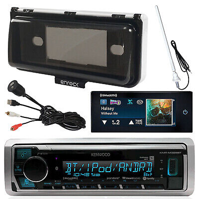 Kenwood Media Bluetooth Receiver, SiriusXM Tuner, Antenna, Cover, USB/AUX Input