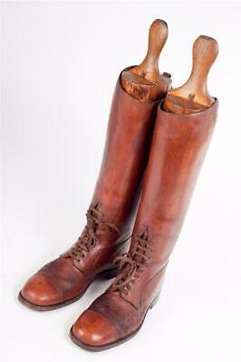 Vintage -  Leather Riding or Field Boots with Original Trees