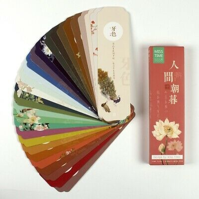 Set of 30 Colourful Chinese Oriental Japanese Paintings paper bookmarks #0055