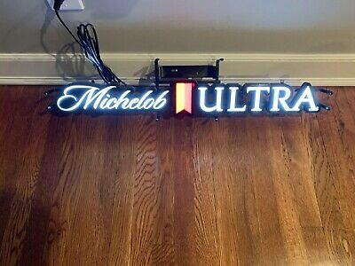 New Michelob Ultra Horizontal LED Opti Neo Neon Beer Sign bar light