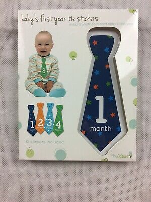Baby's First Year Tie Stickers Brand New Baby Milestones