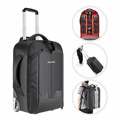 Neewer 2-in-1 Sliding Camera Backpack Suitcase Style Convertible with Double Han