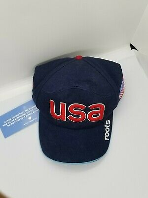 2002 U S Olympic Team Official Roots Logo Hat NWT