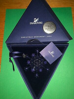 Swarovski 2004 Large Christmas Ornament/Snowflake, Complete & Perfect !!!