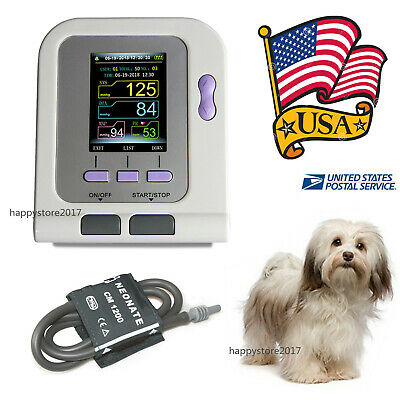 USA FDA CONTEC08A-VET Digital Blood Pressure Monitor,Veterinary NIBP Meter+ Cuff