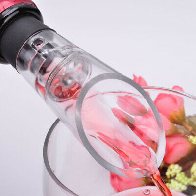 Acrylic Stainless Wine Aerator Pour Spout Bottle Stopper Decanter Aerating /T