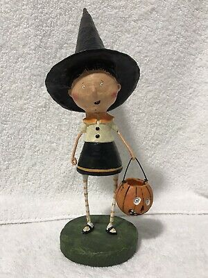 Lori Mitchell Halloween Figurine Witchy Helen girl witch