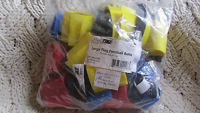 """Sportime Large Flag Football Belts Set 12, Red & Yellow 32"""" - 44"""" Waists"""