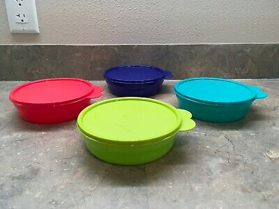 Tupperware Microwave Reheatable Cereal Bowls Set Of 4