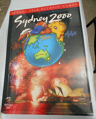 2000 Sydney Olympics Games Poster In Tube Of Issue - Mascots