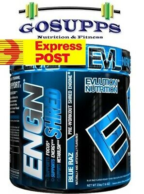 EVL EVLUTION NUTRITION ENGN SHRED Pre Workout PWO FREE EXPRESS POST