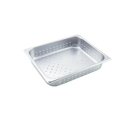 Winco SPHP2, 2.5-Inch Deep, Half-Size Stainless Steel Perforated Steam Table Pan