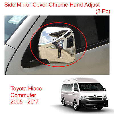 Wing Side Mirror Cover Chrome Electric Adj For Toyota Hiace Commuter 2005-2017