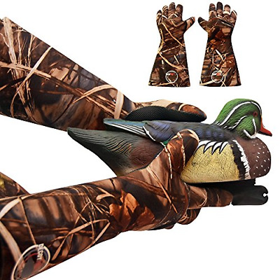 Decoy Gloves Duck Hunting Waterproof Elbow Length Neoprene One Size Fits Most