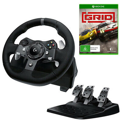 Logitech G920 Driving Force Racing Wheel with GRID Bundle NEW