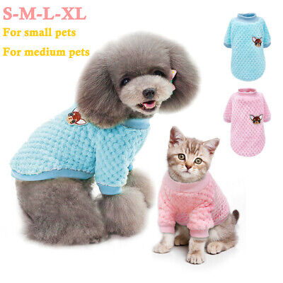 Pet Dog Cat Jumper Knitted Sweater Embroidery Tops Clothes For Chihuahua Yorkie