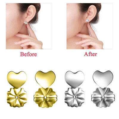 Silver&Gold  Magic Earring Back Support Earring Lifts Fits All Post Earrings