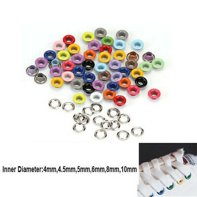 3-10mm Colored Eyelets With Washers Grommet Rivet Hole Leather Card Scrapbooking