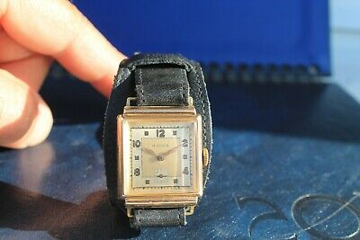 Rare Old Swiss Made Vintage Wrist Watch Man COLDA 15Jewels Gold Plated Art Deco