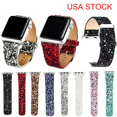 US Christmas Bling Watch Strap for Apple Watch Series 5 4 3 2 Band 40/44/38/42mm