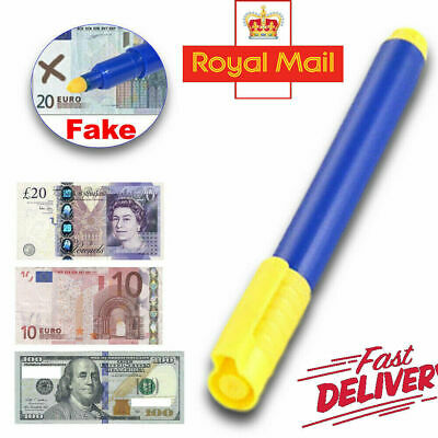 Money Tester Checker Pen Bank Note Detector Pens Forged Fake Notes Pen Fraud