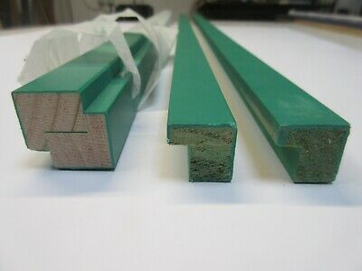 Sale Bundle - 4 x 1m Lengths (4m) Green Wooden Picture Frame Moulding 21mm wide