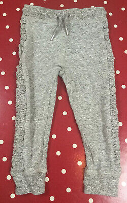 Next Girls Grey Cropped Leg Jogging Bottoms, Age 5 Years