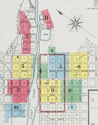 Golden, Colorado~Sanborn Map©sheets~57 color maps made 1886 to 1911