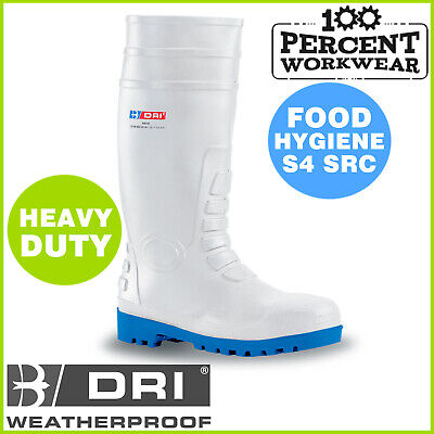 Amblers FS98 Safety Wellingtons White Food Catering S4 Steel Toe Cap Mens Boots