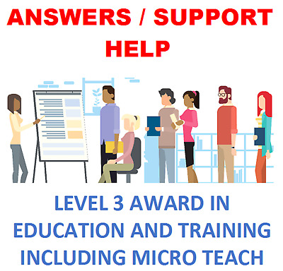 Level 3 Award in Education and Training Assignments + Micro Teach lesson plan