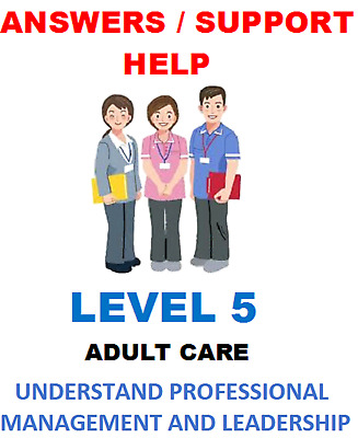 Unit 71 LM507 Level 5 Diploma: Leadership Health and Social Care Adults QCF NVQ
