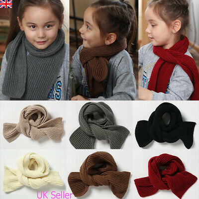 Kids Girls Boys Winter Warm Scarf Toddler Children Knitted Scarves Neck Warmer