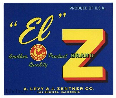 Horseshoe LUCKY SELLER Brand Levy Zentner *AN ORIGINAL PRODUCE CRATE LABEL*