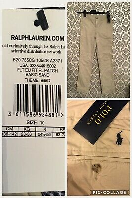 Boys New Tagged Ralph Lauren Age 10 Beige Chino Formal Trousers