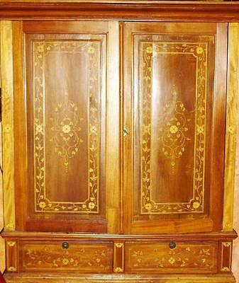 Inlaid Wardrobe Marquetry Marquetry Cabinet Baroque Rococo Empire Antique Antiqu