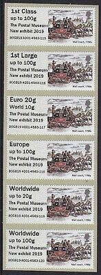 Postal Museum Mail Coach New Exhibit 2019 Collector Strip Post & Go Faststamp